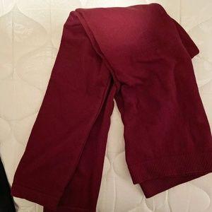 Fleece lined leggings - wine